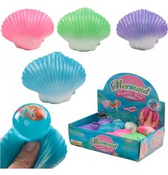 A popular pocket money priced toy. Squeeze the shell to reveal a mermaid!