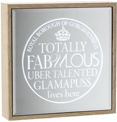 Totally fabulous, uber talented glamapuss lives here. A chic and unique light up mirror sign