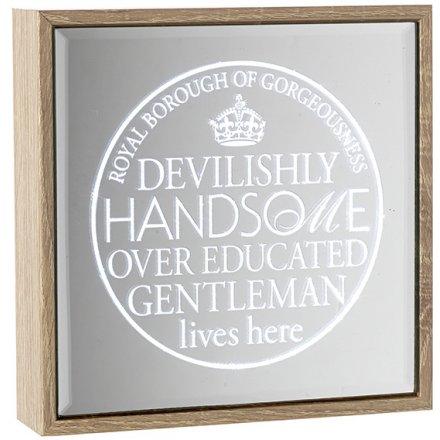 Handsome Gentleman Light Up Sign 16cm