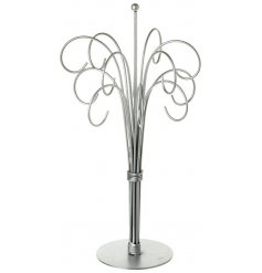 A simple and elegant silver metal display tree. Ideal for displaying decorations, mini signs and jewellery.