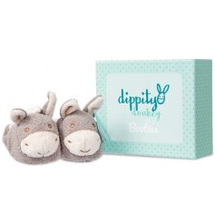 A beautifully gift boxed pair of Dippity Donkey booties for little ones to snuggle into and explore.