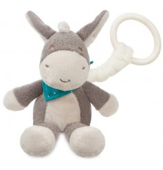 Dippity Donkey is a much loved plush character. This pram toy is soft and snuggly, perfect for little ones on the go.