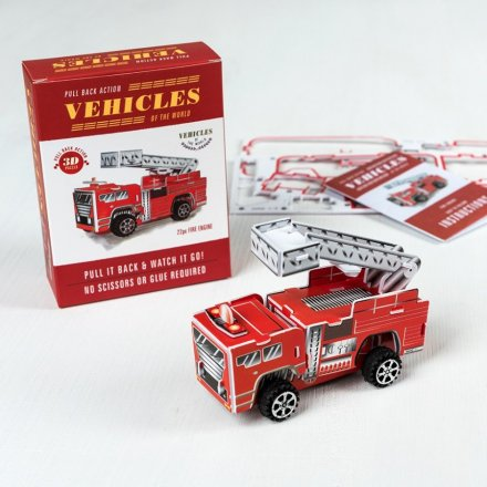 This build your own fire engine makes a fantastic stocking filler gift and fun activity for a rainy day.