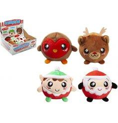 A mix of 4 top trending Christmas design squishimi plush balls. A top craze for kids this season!