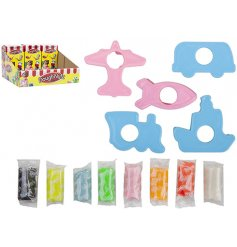 A pack of coloured dough with a mix of moulds. A great gift and craft item for kids to explore and get creative with.