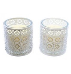 Bring a beautifully shabby chic feel to your home interior with this charming mix of metal laced candles