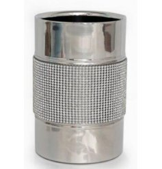 Add a little glamour to your home with this stylish silver and diamond bottle holder. A great gift item!