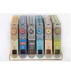 Relax with this assortment of karma incense, each with a unique and beautifully scented fragrance.