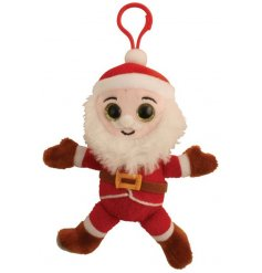 Santa clip on pal with glittery eyes