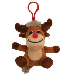 Novelty fabric reindeer clip on pal