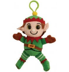 Novelty fabric Elf clip on pal