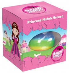 A bright rainbow hatching egg with a growing princess surprise