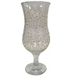 Add some glitz to your favourite cocktail by making it in this beautiful hand decorated tall cocktail glass.