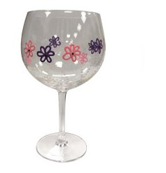 Gift mum with this pretty and unique floral gin glass. Each glass has been hand finished and comes in a stylish gift box