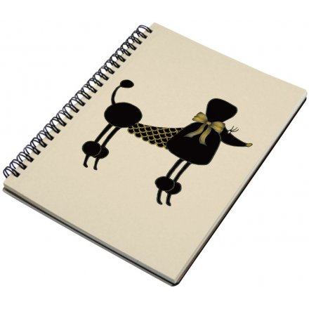 A5 Spiral Notebook, Poodle