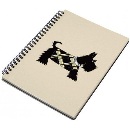 A5 Spiral Notebook, Scottie Dog