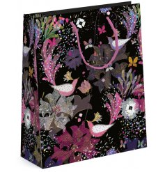 Birds of Paradise inspired Gift Bag will be sure to bring presentation to any gift giving occasion