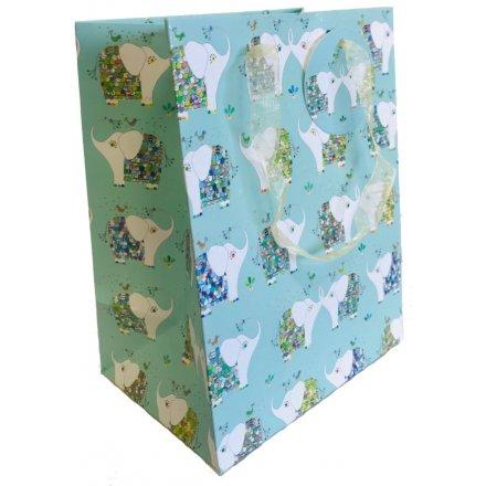 Turnowsky Colourful Elephants Gift Bag - Medium