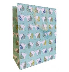 Compliment any gift giving event with this beautifully patterned Large Gift Bag