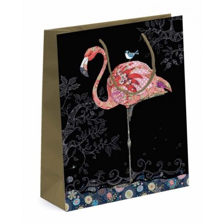 Patterned Flamingo Small Gift Bag