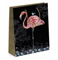 this beautifully Flamboyant Flamingo printed gift bag is part of a new range of themed Giftwares from the Bug Art Range