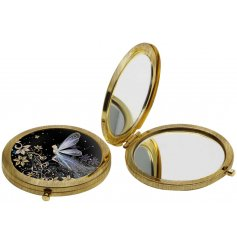 A beautifully whimsical themed compact mirror with a matching gift box for added presentation