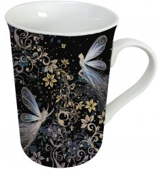 A beautifully whimsical themed Porcelain Mug with a matching gift box for added presentation
