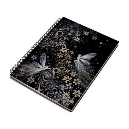 Patterned Fairy Hardback Notebook - A5