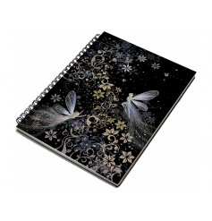 A beautifully whimsical themed notebook with a metal spine and hardback cover.