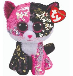 Meet Mailbu, a highly tactile sequin dinosaur from the new and highly anticipated TY Flippable Beanie Boo range.