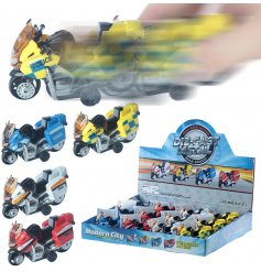 Have hours of fun with these pullback motorbikes, in a variety of police designs. A fantastic pocket money priced item.
