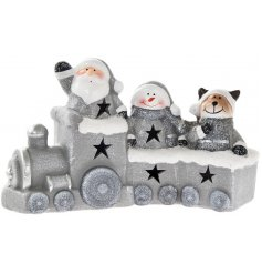 A silver shimmer Christmas train with all of your favourite characters.
