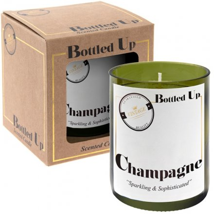 Recycled Bottle Candle - Champagne