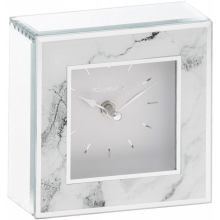 Mirror Marble Clock