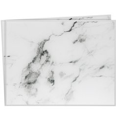 Stay on trend with this set of 2 mirror marble placemats.