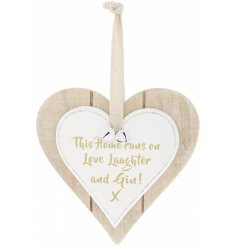 From our popular double heart plaque range is this charming hanging heart with a trending scripted quote about Gin!