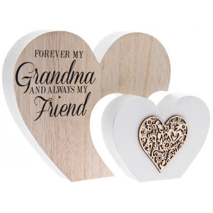 Grandma Double Heart Sign