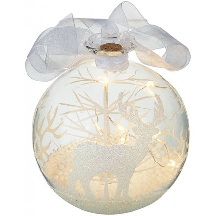LED Reindeer Bauble 11cm