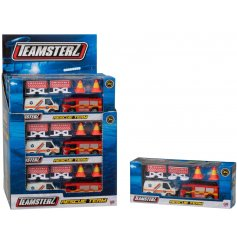 A fun toy for kids to enjoy, including 2 emergency services vehicles and props.