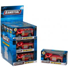 Have hours of fun with this fire engine teamsterz toy with light and sound function.