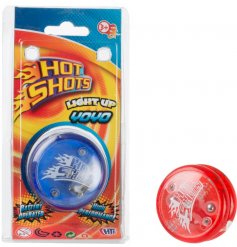 Battery operated, high performance light up yo yo in blue and red designs. A popular pocket money priced toy by Hot Shot