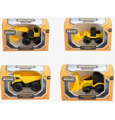 Build, move and dig with this mix of 4 construction trucks. A great pocket money priced item for kids.