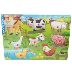 Traditionally crafted peg puzzles to help little ones learn their animals. An enjoyable rainy day gift and game.