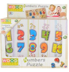 Learn through play with this traditional wooden puzzle with peg numbers.