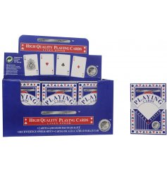 A pack of high quality playing cards, complete with a linen finish