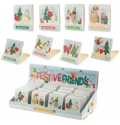 a festive themed assortment of mini nail files, perfect for stocking filling at Christmas!