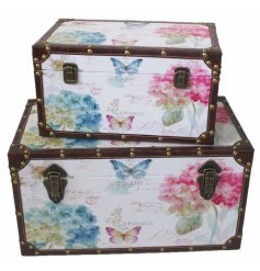 Set with bright, light based tones and an added distressed charm, these stylishly colourful butterfly printed storage t