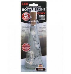 Transform old bottles into chic light up decorations with these warm white cork stopper LED lights.