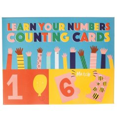 Learn through play with this pack of 10 jigsaw cards. Simply match the numbered jigsaw pieces with the illustrated piece