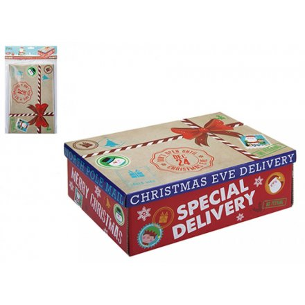 north pole mail medium christmas eve box 32cm - Does Mail Get Delivered On Christmas Eve
